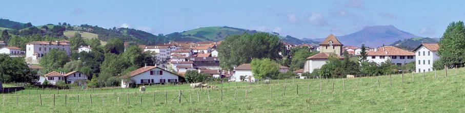 Vue du village d'Espelette