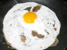 Coagulation de l'albumine et brunissement par réaction de Maillard du blanc d'un œuf sur le plat !