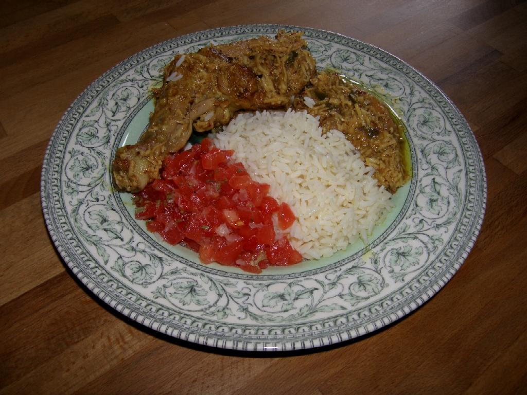 Curry de poulet coco à la Réunionnaise.
