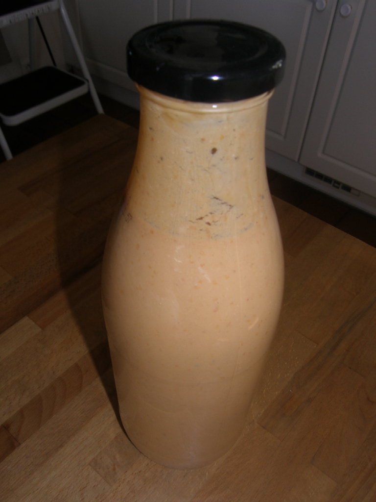 Milk-shake aux abricots et sésame.
