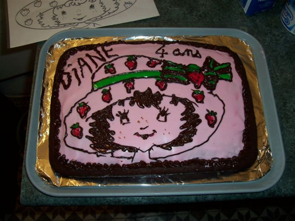 """Le véritable gâteau au chocolat de Nathalie Ô Bulles """"scratch-testé"""" pour les 4 ans de Diane !"""