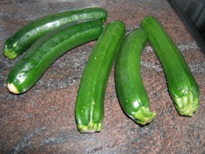Courgettes.