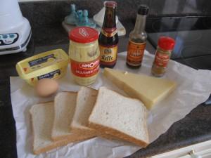 Les ingrédients pour le welsh rabbit !