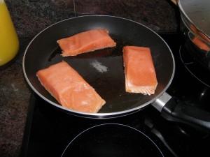 Début de la cuisson...