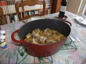 Tajine de poulet aux courgettes.