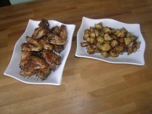 Ailes de poulets et pommes de terre grillées à la provençale