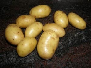 Pommes de terre charlottes.