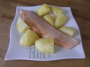 ... et une assiette dressée avant d'être aspergée du court-bouillon réduit et filtré !
