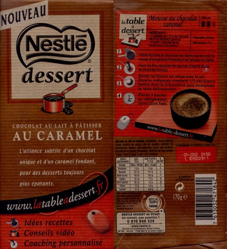 recettes nestl dessert caramel