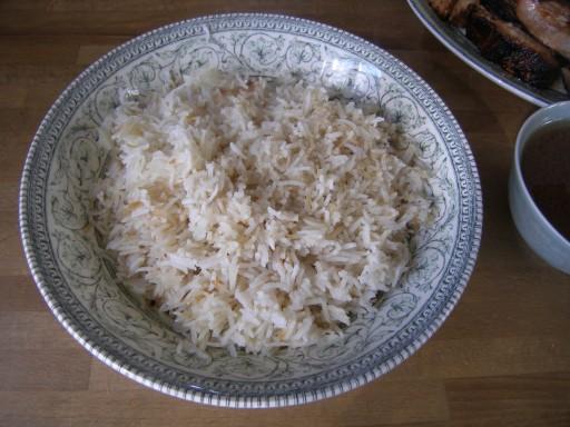 travers de porc marin s sauce aigre douce et riz basmati pilaf la recette du dredi. Black Bedroom Furniture Sets. Home Design Ideas