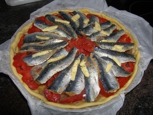 Tarte bretonne aux sardines fra ches la recette du dredi - Cuisiner des filets de sardines fraiches ...