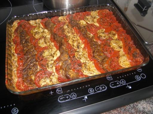 tian courgettes tomates aubergine la recette du dredi. Black Bedroom Furniture Sets. Home Design Ideas