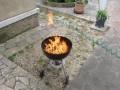 rbon de bois enflammé au gel : monte flamme lègère...